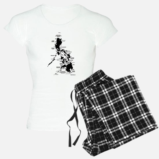 Philippines Rough Map Pajamas