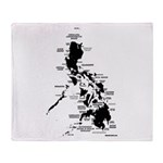 Philippines Rough Map Throw Blanket