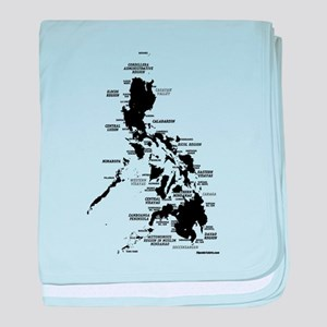 Philippines Rough Map baby blanket