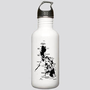 Philippines Rough Map Stainless Water Bottle 1.0L
