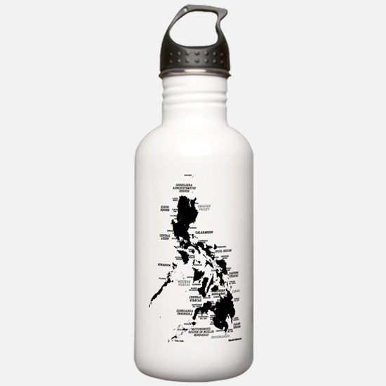 Philippines Rough Map Water Bottle