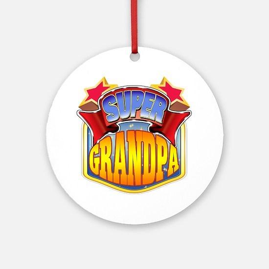Super Grandpa Ornament (Round)
