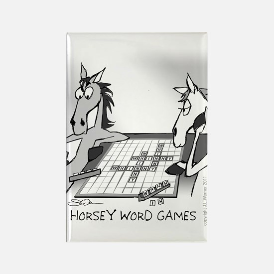Horsey Word Games Rectangle Magnet