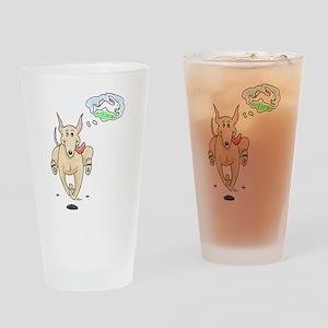Fawn Greyhound Dream Drinking Glass