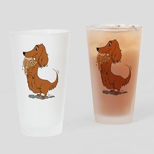 Dachshund and Bear Drinking Glass