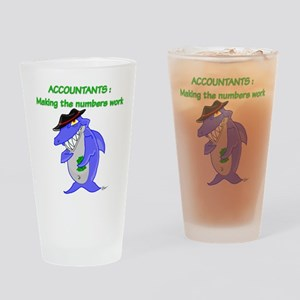 Shark Accountant Drinking Glass