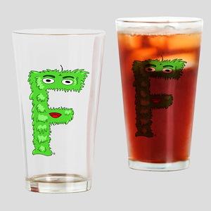 Monster Letter F Drinking Glass