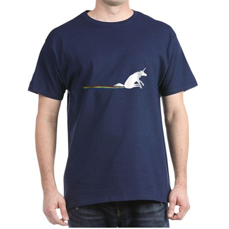 Unicorn Rainbow Shuffle Dark T-Shirt