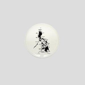 Philippines Rough Map Mini Button