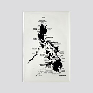 Philippines Rough Map Rectangle Magnet