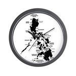 Philippines Rough Map Wall Clock