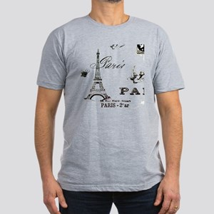 EIFFEL TOWER Men's Fitted T-Shirt (dark)