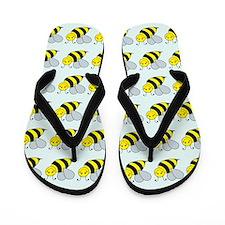 Bees & Flowers Flip Flops