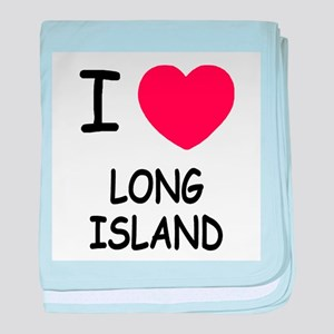 I heart long island baby blanket