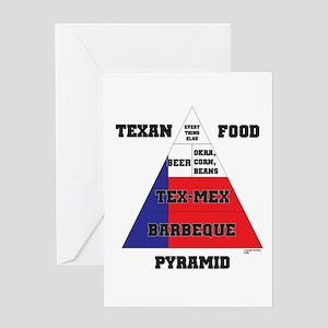 Texan Food Pyramid Greeting Card