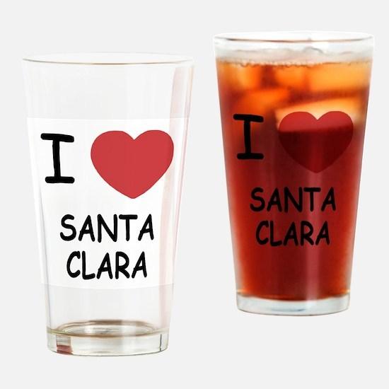I heart santa clara Drinking Glass