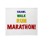 Crawl Walk Run Marathon Throw Blanket
