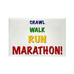 Crawl Walk Run Marathon Rectangle Magnet (100 pack