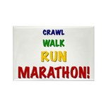 Crawl Walk Run Marathon Rectangle Magnet (10 pack)