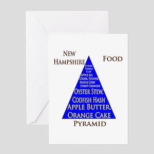 New Hampshire Food Pyramid Greeting Card