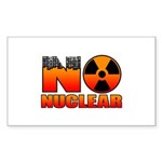 No nuclear Sticker (Rectangle 10 pk)