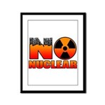 No nuclear Framed Panel Print
