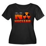 No nuclear Women's Plus Size Scoop Neck Dark T-Shi