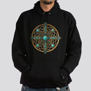Native American Beadwork Mandala Hoodie (dark)