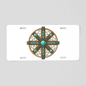 Native American Beadwork Mandala Aluminum License