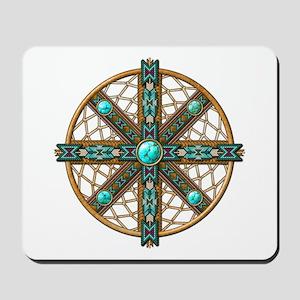 Native American Beadwork Mandala Mousepad