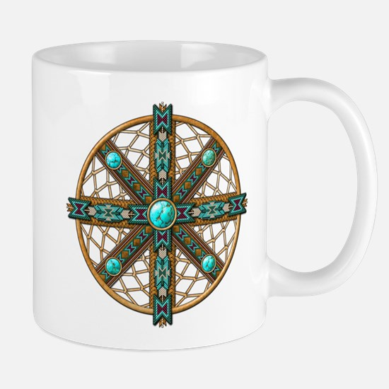 Native American Beadwork Mandala Mug