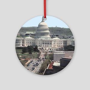 Capital Building DC Ornament (Round)