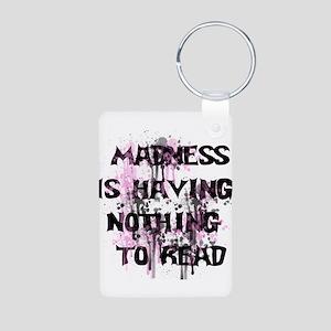 Reading Madness Gifts Aluminum Photo Keychain