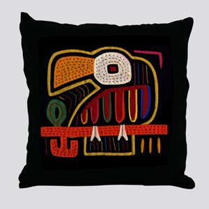 Indigenous Bird Art Throw Pillow