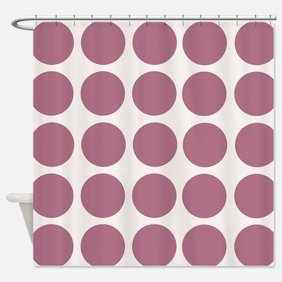 Mauve Polkadots Shower Curtain