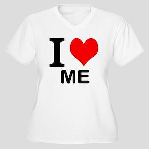 I Love Me Women's Plus Size V-Neck T-Shirt