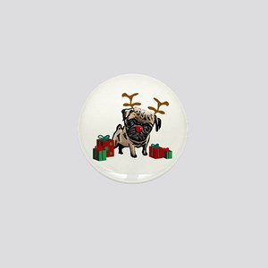 Pug Christmas Mini Button