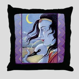 Saraswati-Goddess of Wisdom Throw Pillow