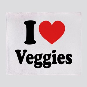 I Love Veggies: Throw Blanket