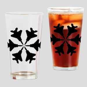 F-15 Aviation Snowflake Drinking Glass