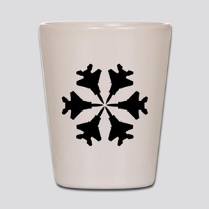 F-15 Aviation Snowflake Shot Glass