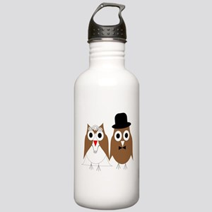 Wedding Owls Stainless Water Bottle 1.0L
