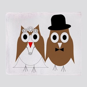 Wedding Owls Throw Blanket