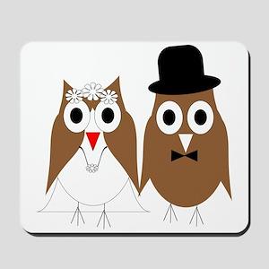 Wedding Owls Mousepad