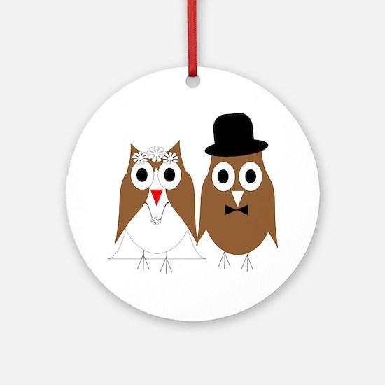 Wedding Owls Ornament (Round)