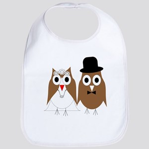 Wedding Owls Bib