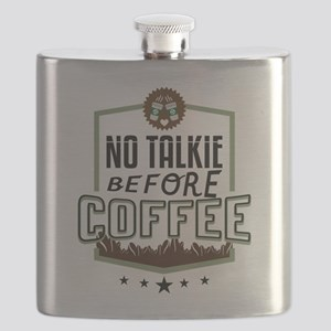 No Talkie Before Coffee Flask