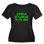 Ghouls Wanna Have Fun Green Women's Plus Size Scoo