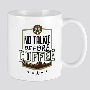 No Talkie Before Coffee Mugs