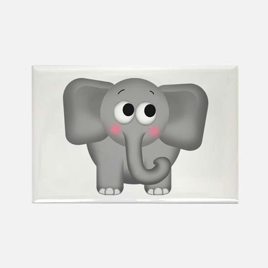 Adorable Elephant Rectangle Magnet (10 pack)